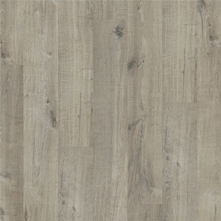 Quick Step Pulse Hybrid Cotton Oak Grey With Saw Cuts